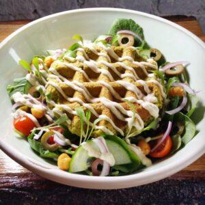 Medi Salad 🥗 & Falafel Waffle bowls or wrap