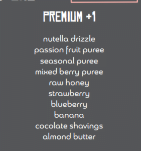 Premium AÇai Bowl add-ons and Toppings